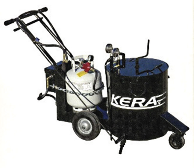 New Marathon KERA10 oil jacketed walk behind crack sealer