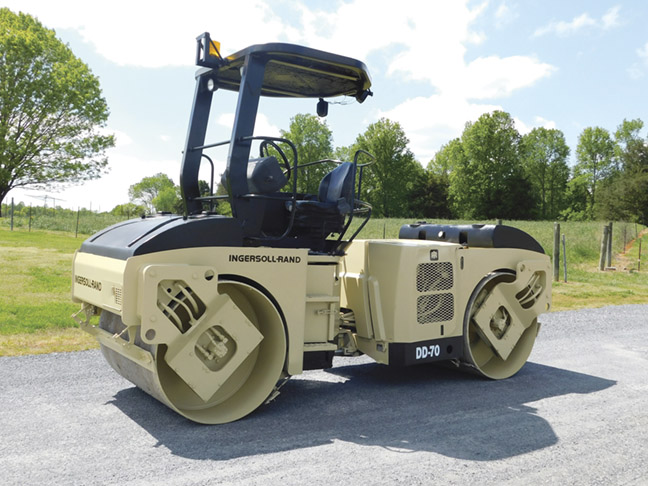 """1999 Ingersoll Rand DD70 double drum 57"""" vibratory roller"""