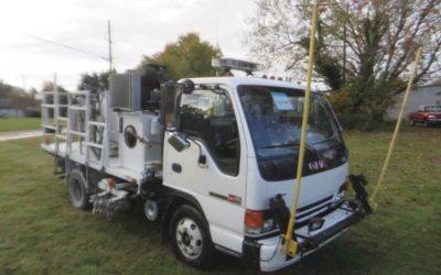 1996 GMC W4 Airless Paint Truck